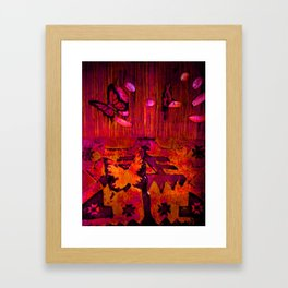 Entomophobia (red) Framed Art Print