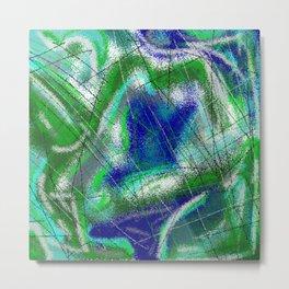New World Matt Texture Abstract VII Metal Print