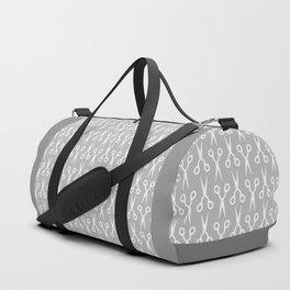 Grey Scissors Duffle Bag