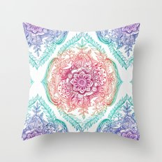 Indian Ink - Rainbow version Throw Pillow
