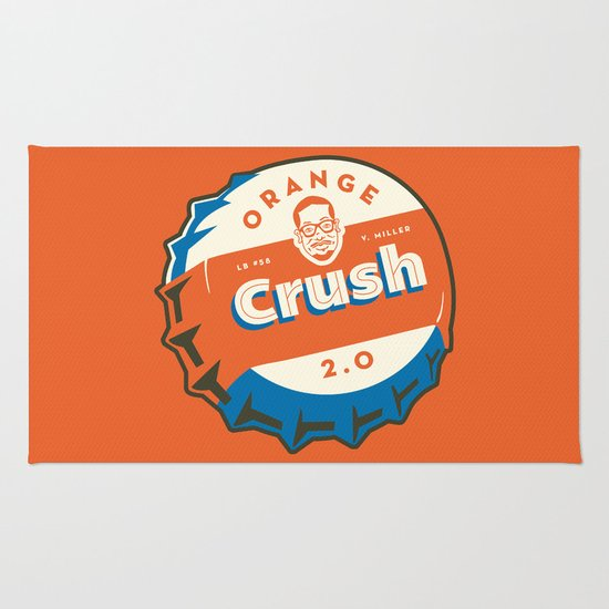 Denver's Orange Crush Defense TWO POINT OH! Rug