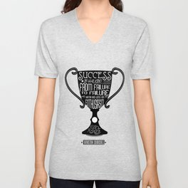 Success is walking from failure Winston Churchill Inspirational Quotes Unisex V-Neck