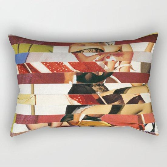 Glitch Pin-Up Redux: Emma Rectangular Pillow