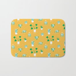 Plant Babies (on yellow) Bath Mat