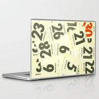 calendar Laptop & iPad Skins featuring CLOSEUPS - Calendar Sheets by Cordula Kerlikowski