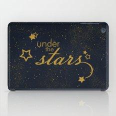 Under the stars- sparkling night typography iPad Case