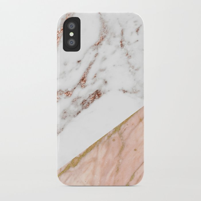 Marble Rose Gold Blended Iphone Case By Marbleco Society6