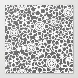Filigree Floral Lace Canvas Print