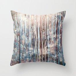Blue Away Throw Pillow