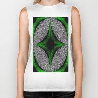 gem Biker Tanks featuring Green Gem by Sartoris ART