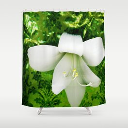 Innocent in green Shower Curtain