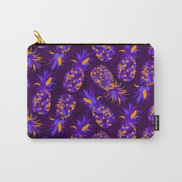 Purple Mosaic Pineapples Carry-All Pouch