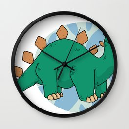 Steg-o-sor-us Wall Clock