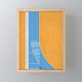 Finish Line | Aerial Illustration Framed Mini Art Print