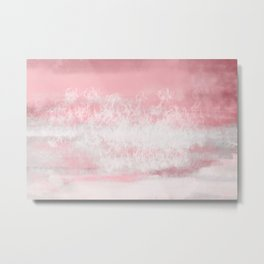 Pink Tides Watercolor Metal Print