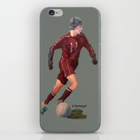 soccer iPhone & iPod Skins featuring Soccer by Karen Pettengill