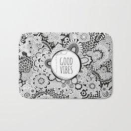Good Vibes Doodle Bath Mat