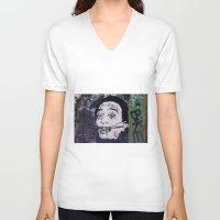 salvador dali V-neck T-shirts featuring Salvador Dali by Victoria Herrera