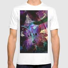 fantasy abstract 6 MEDIUM Mens Fitted Tee White
