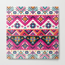 Oriental Floral Traditional Moroccan Style  Metal Print
