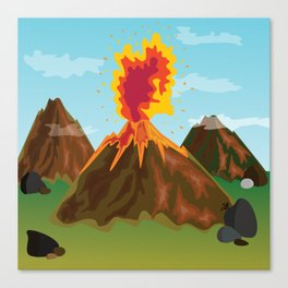 Hot Volcanos Canvas Print