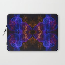 Abstract and symmetrical texture in the form of colorful smoke clouds. Laptop Sleeve