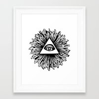 all seeing eye Framed Art Prints featuring All seeing camera eye by dsimpson