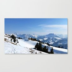 Winter Paradise in Austria Canvas Print