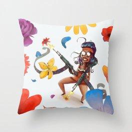 flower power motherfocker Throw Pillow