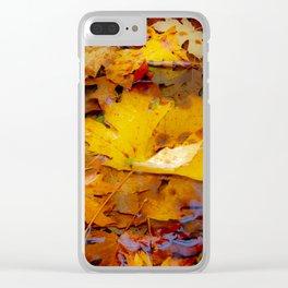 Fallen Leaves Clear iPhone Case