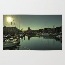 Swansea Docks Reflections Rug