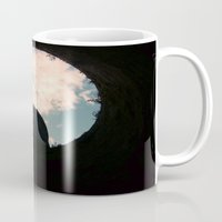 castle in the sky Mugs featuring Sky Castle  by Ambers Vintage Find