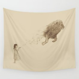 Sandy the Lion Wall Tapestry
