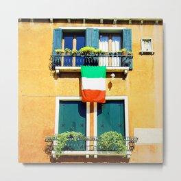 Viva Italia Venice Italy Travel Photography Metal Print