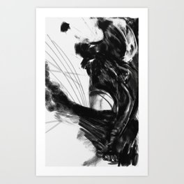 Woman of Line Art Print
