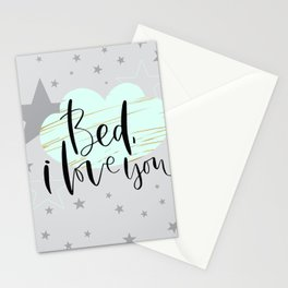Bed I love you Stationery Cards
