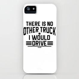 Truck transport logistics driver highway iPhone Case