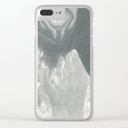 Fluffy Scar Clear iPhone Case