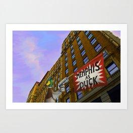 Memphis as duck Art Print