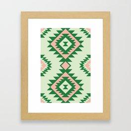Navajo motif with watermelon pallet Framed Art Print