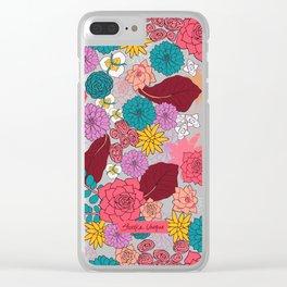 Succulent Garden Clear iPhone Case
