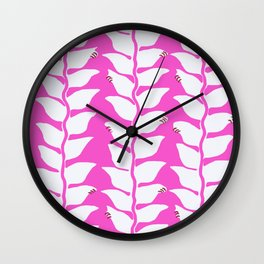 Hot Pink Heliconia Wall Clock