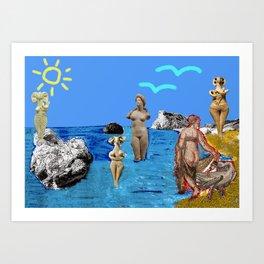 Aphrodites throughout times Art Print