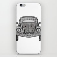volkswagon iPhone & iPod Skins featuring Tangled VW Bug by Cherry Creative Designs