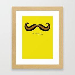 Monsieur Mustard Moustache Framed Art Print
