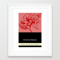 american beauty Framed Art Prints featuring American Beauty  by Eric Drummond Smith