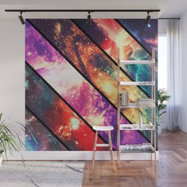 Space collage: deep space Wall Mural
