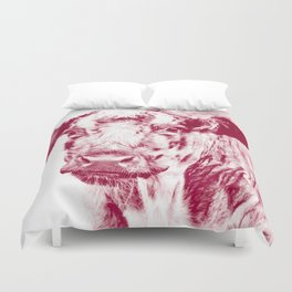 Ardnamurchan Coo - Red Duvet Cover