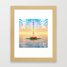 Sacred Lotus - The Seven Chakras First Edition Framed Art Print