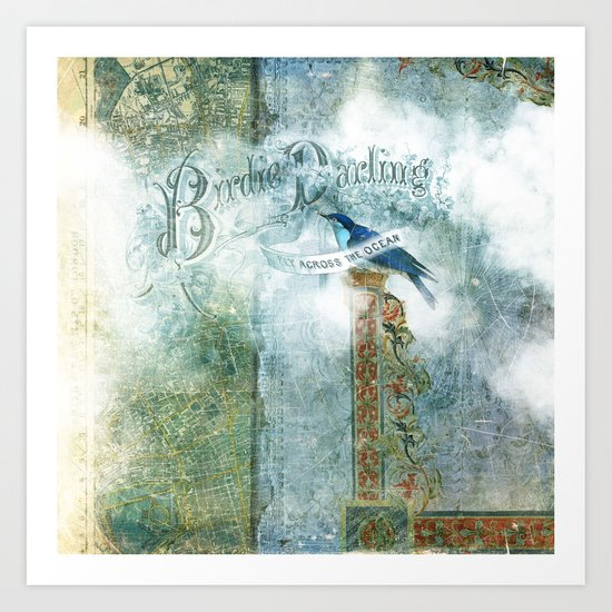 Birdie Darling Art Print